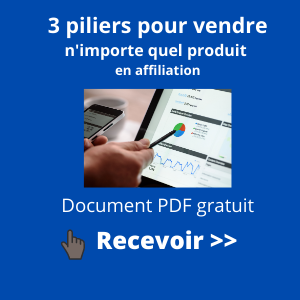 widget 3 piliers affiliation site de niche
